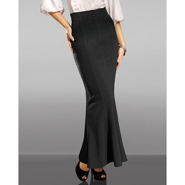 Shape FX Women's Petite Control Flared Maxi Skirt