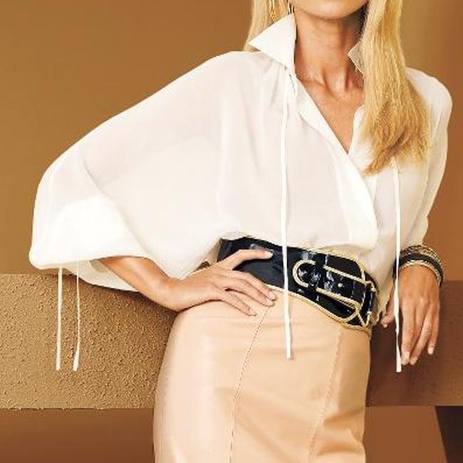Spiegel Women's Missy Oversized Silk Blouse