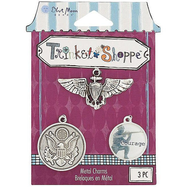 Blue Moon Trinket Shoppe Military Charms (Pack of 3)