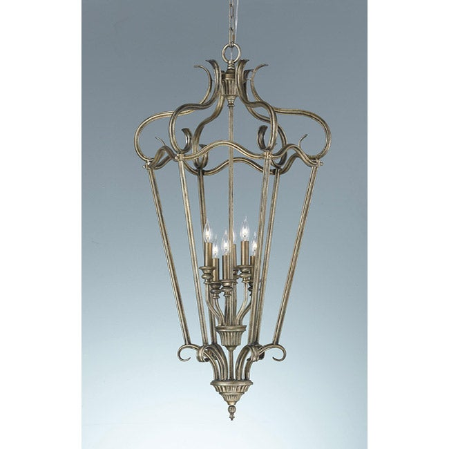 Smokey Topaz 6-light Cage Chandelier - Thumbnail 0