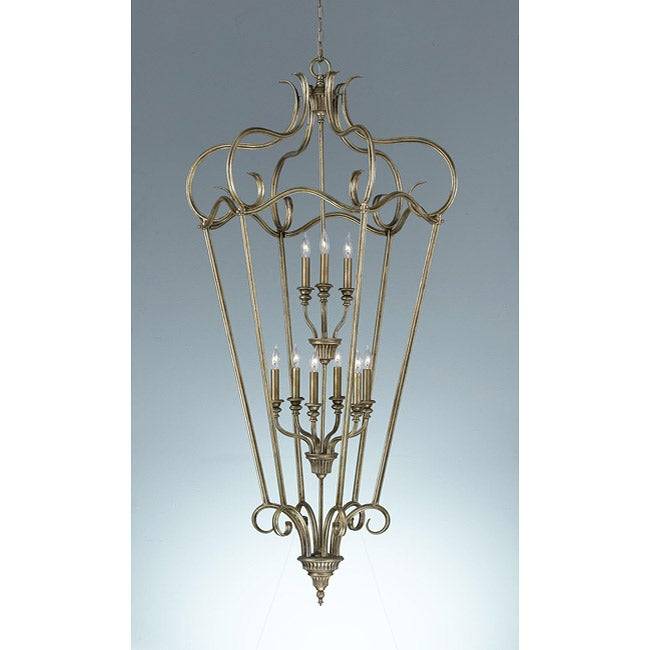 Smokey Topaz 2-tier 9-light Cage Chandelier - Thumbnail 0