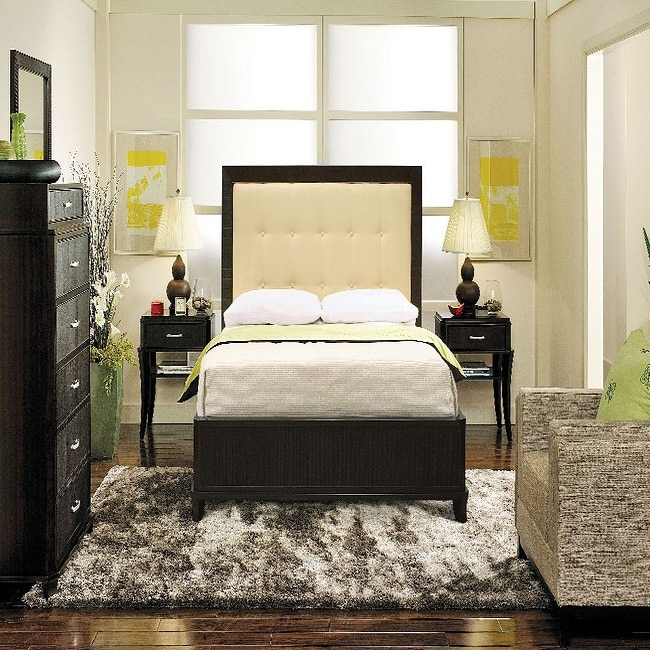 Manhattan 3 Piece Queen Size Bedroom Set With Small Nightstands Free Shipping Today 5751229
