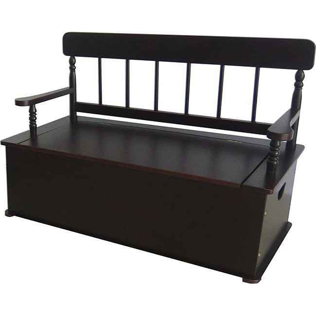 Levels Of Discovery Simply Classic Expresso Storage Bench Seat