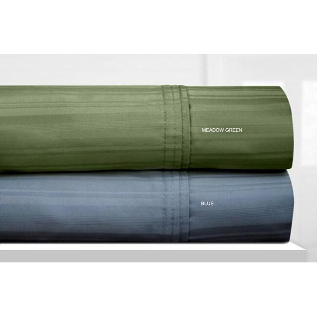 Stripe 600 Thread Count Egyptian Cotton Extra Deep Pocket Sheet Set