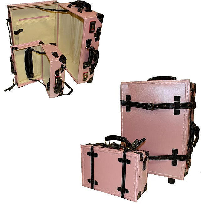 La Vida Vintage 2-piece Light Pink Carry-On Luggage Set - Free ...