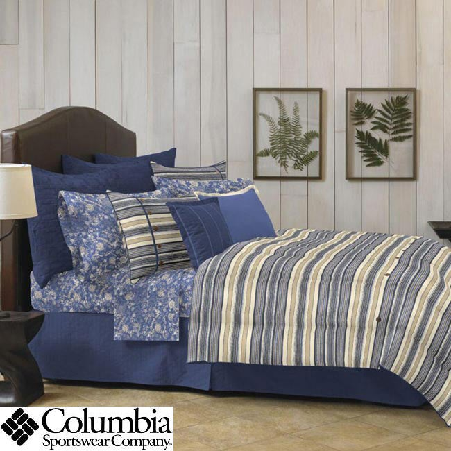 Columbia Tacoma Blue California King-size 4-piece Sheet Set
