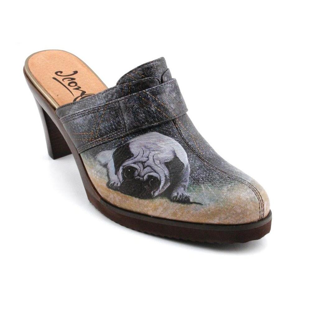Icon Women's 'Boots-2' Flex Heel Leather Mules