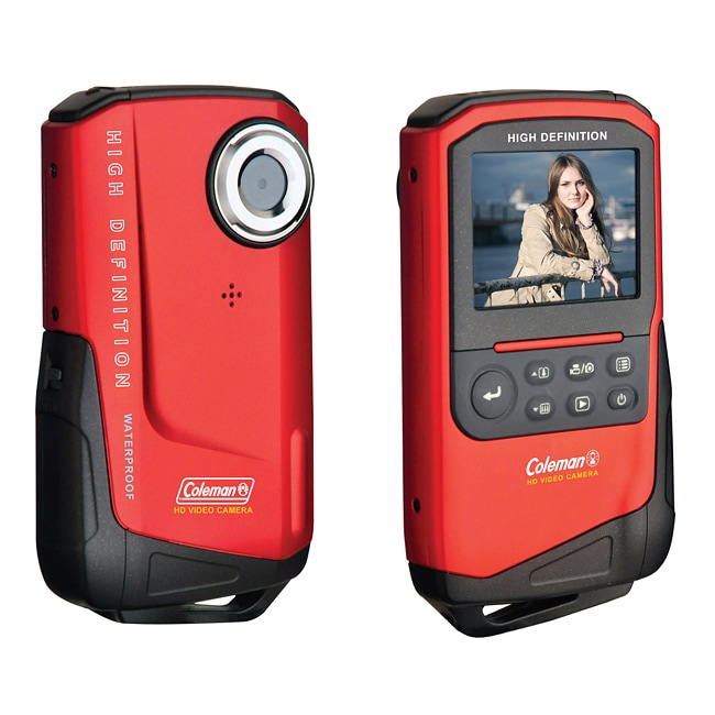 Coleman Xtreme 1080p HD Waterproof Red Digital Camcorder - Thumbnail 0