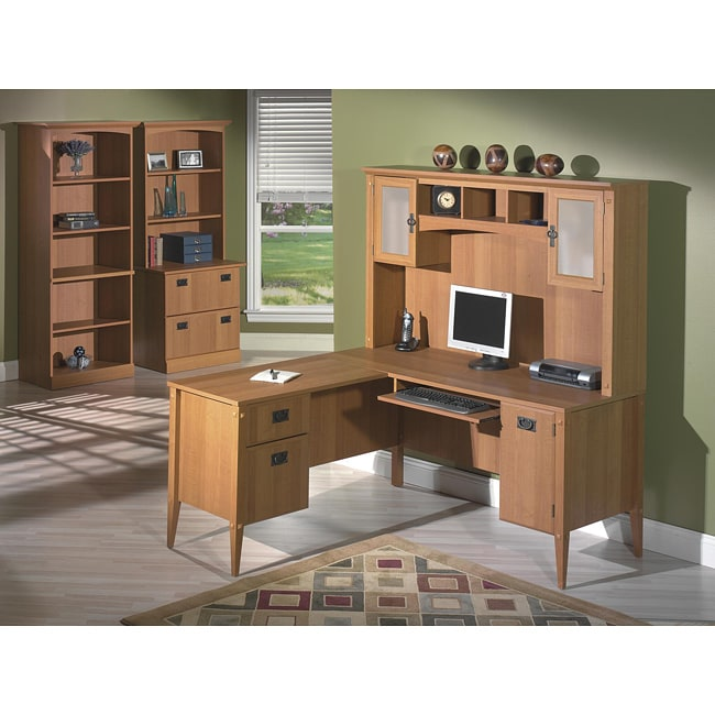 Bush Furniture Mission Pointe 60-inch Desk Bundle - Free Shipping ...