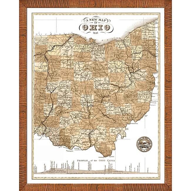 Free Ohio Map.Map Of Ohio Framed Print
