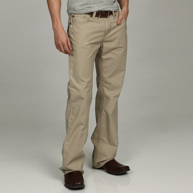 Seven7 Men S Bootcut Canvas Pants Free Shipping On
