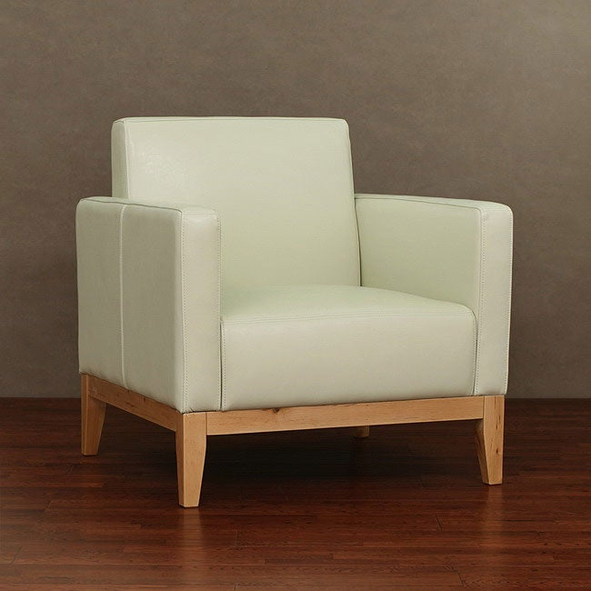 Manhattan Cream Leather Chair Free Shipping Today