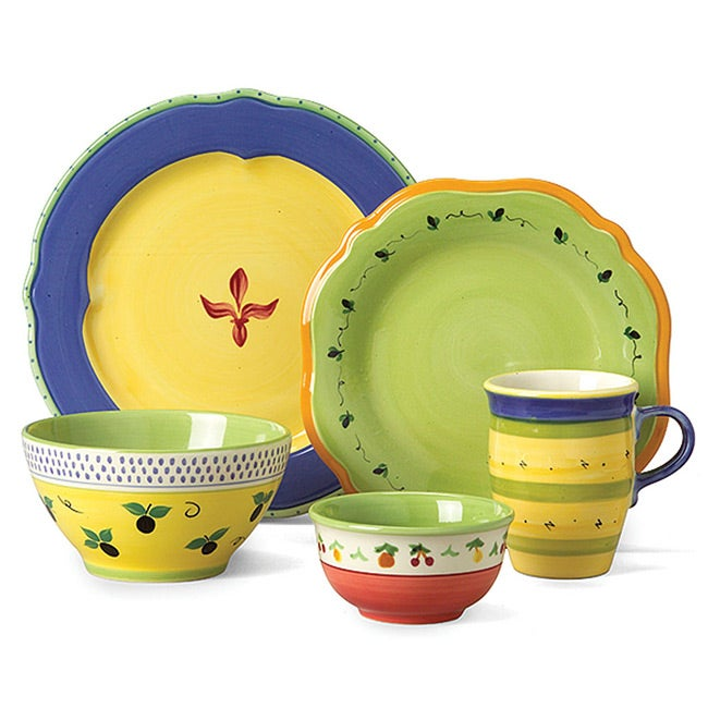Pfaltzgraff Pistoulet Blue 20-piece Dinnerware Set