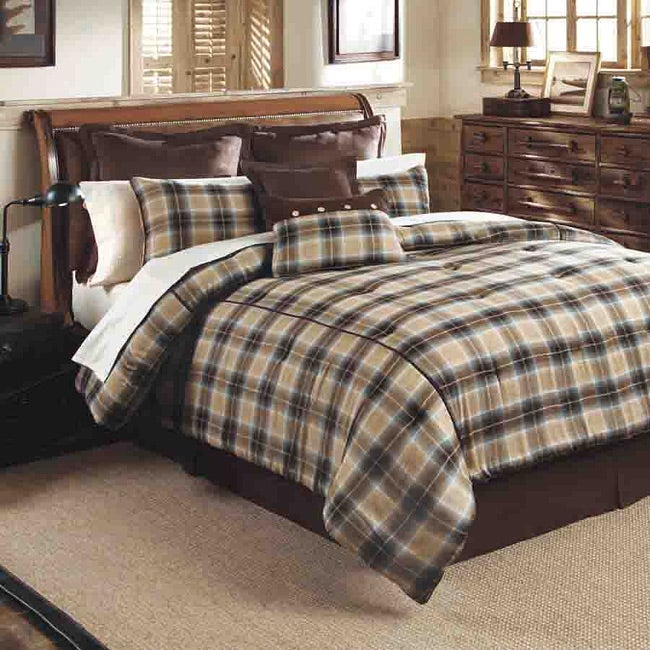 Lincoln Plaid King-size 8-piece Bed in a Bag with Sheet Set