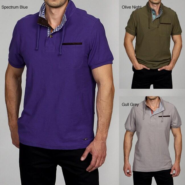 Cavi Men's Mock Neck Polo Shirt