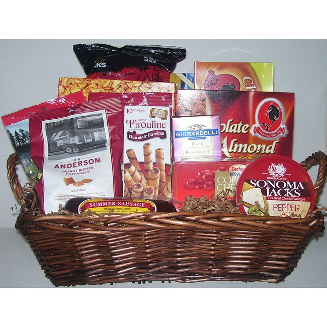 Crowd Pleaser Deluxe Gift Basket - Thumbnail 0