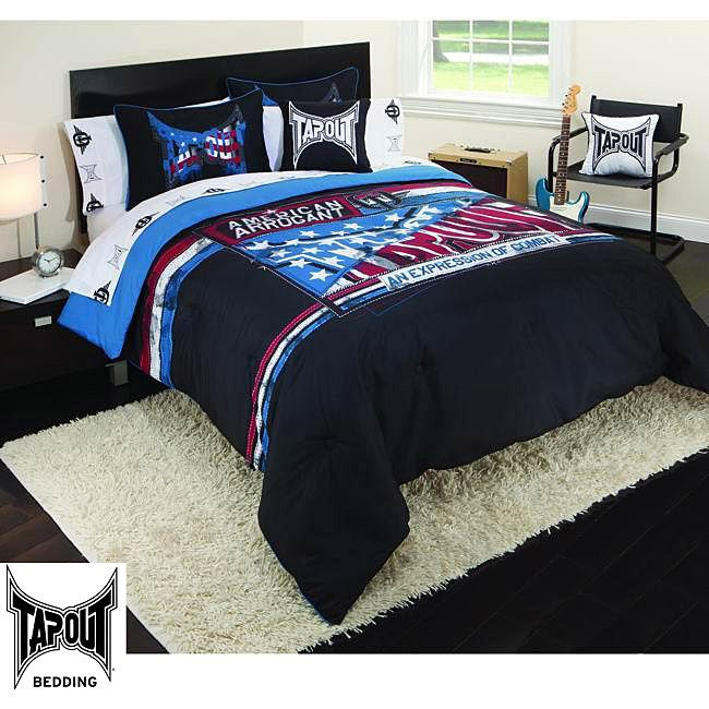 Tap Out All-American Black 4-piece Comforter Set