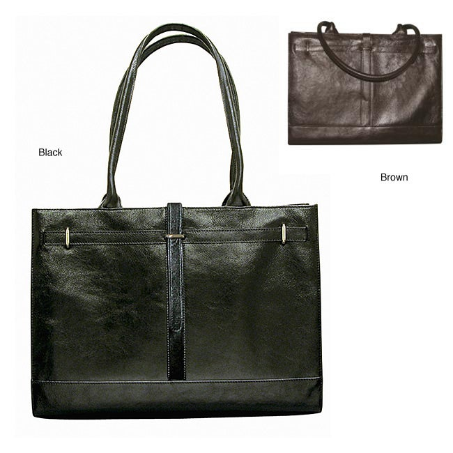 Buxton Women's Kelly Leather 15.4-inch Laptop Bag