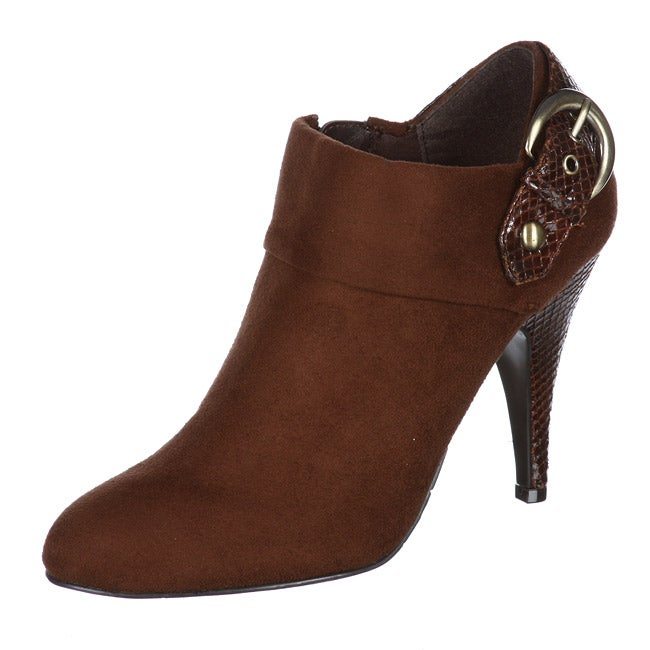43b70ac8 Shop Unisa Women's 'Caprise 3' Dark Brown Booties - Free Shipping On Orders  Over $45 - Overstock - 5785301