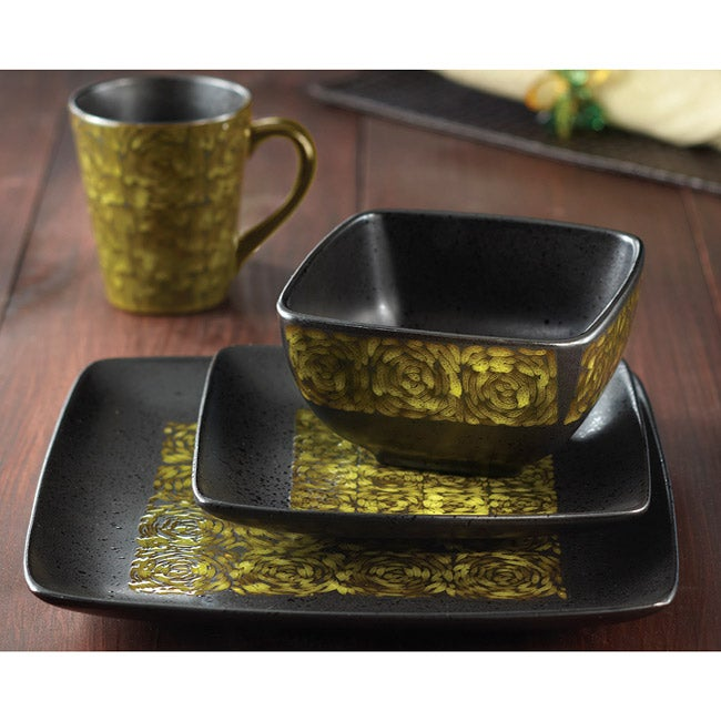 American Atelier Yardley Yellow 16-piece Dinnerware Set