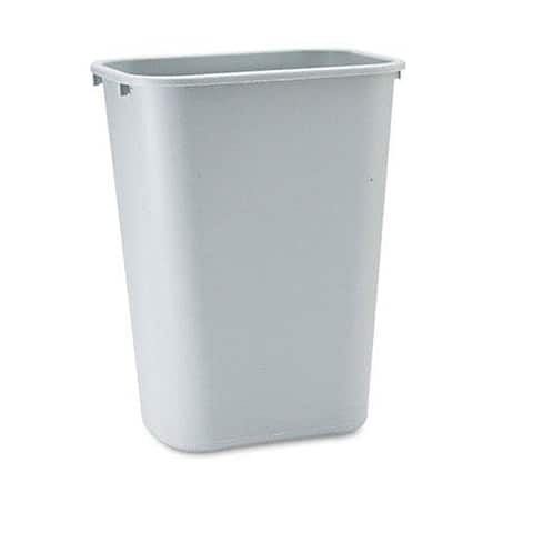 Rubbermaid 10.25-gallon Grey Deskside Plastic Wastebasket