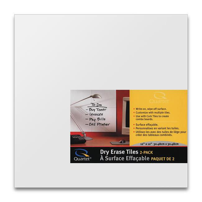 Quartet Create Your Own Dry Erase Board Tiles (Pack of 12)