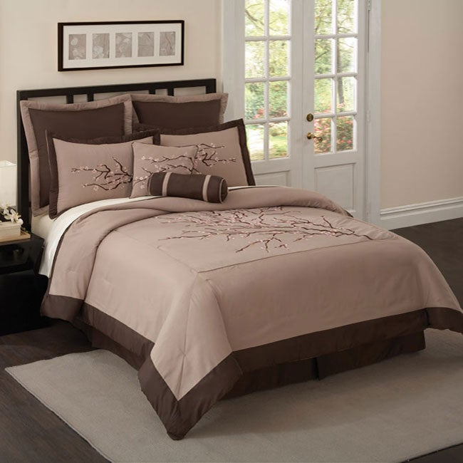 Zen Blossom 8-piece King/ California King-size Comforter Set