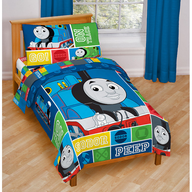 thomas the train toddler 4 piece bed in a bag free shipping today 13511191. Black Bedroom Furniture Sets. Home Design Ideas