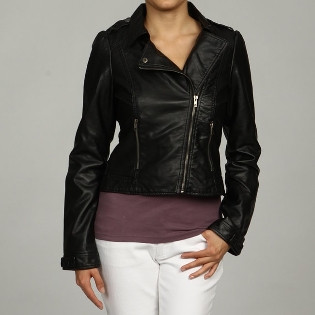 Black Rivet Women's Off-center Zipper Jacket FINAL SALE