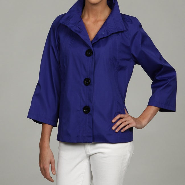 Black Rivet Women's Blue Front Button Jacket FINAL SALE