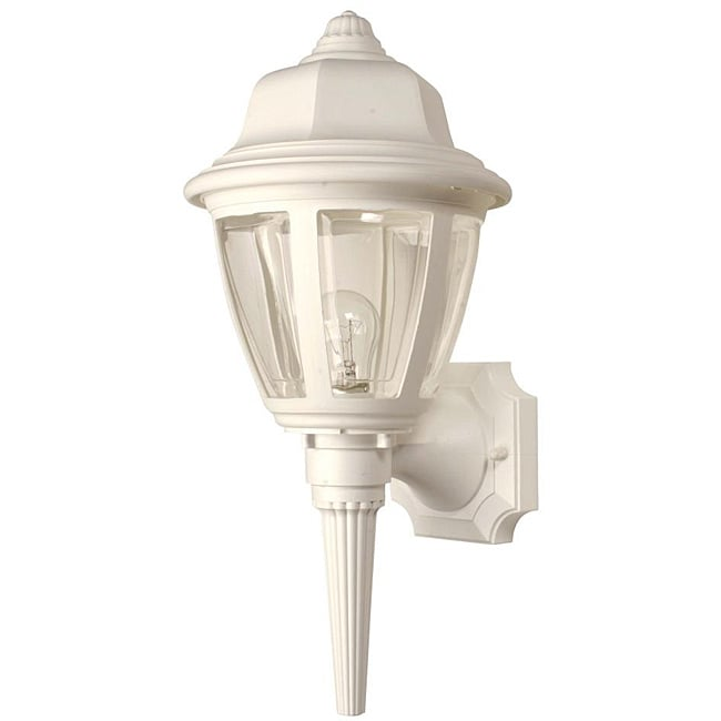 Transitional 1-light White Outdoor Wall Light