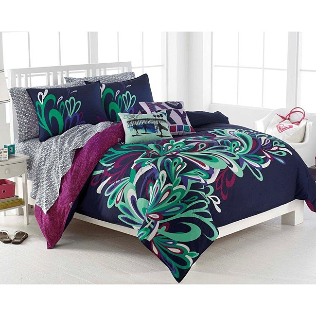 Roxy Splash Full-size 9-piece Bed in a Bag with Sheet Set ...