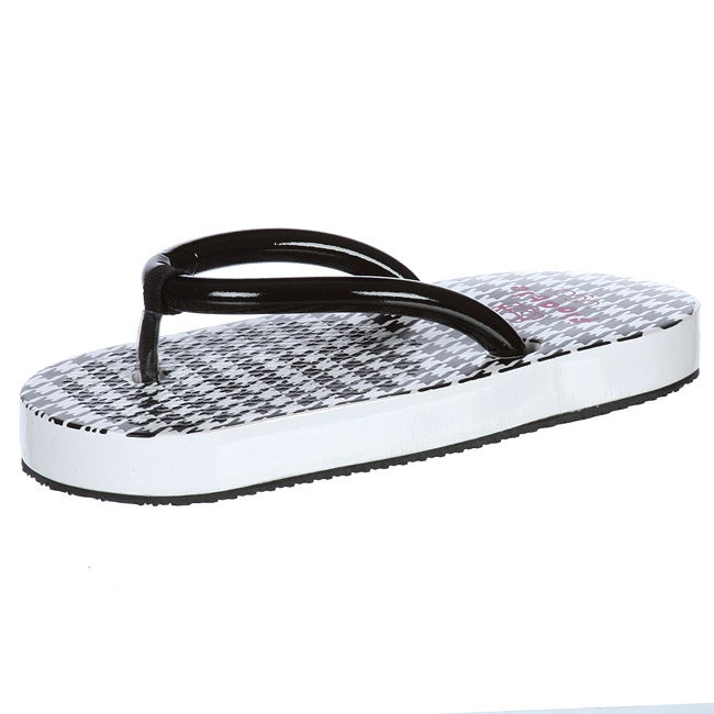 72e7190ba Shop Sugar Women s  Floatie  Houndstooth Flip Flop Sandals - Free Shipping  On Orders Over  45 - Overstock - 5800920
