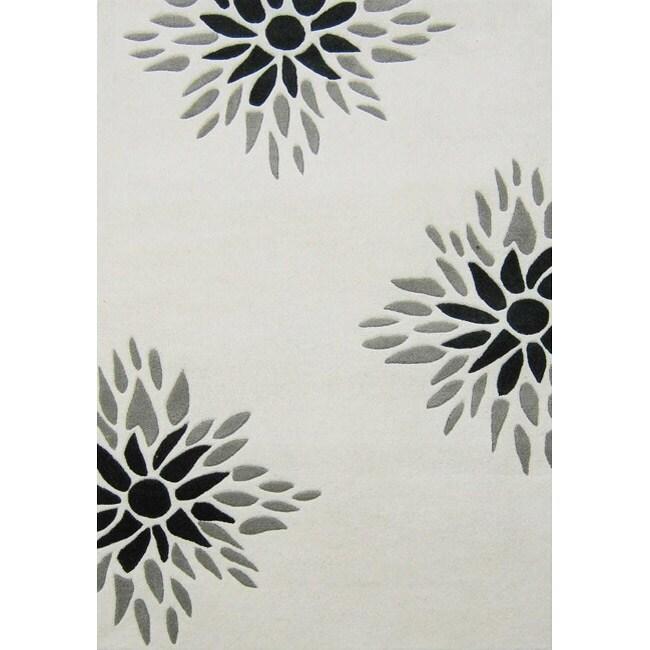 Alliyah Handmade Off-White New Zealand Blend Wool Rug - 8' x 10'