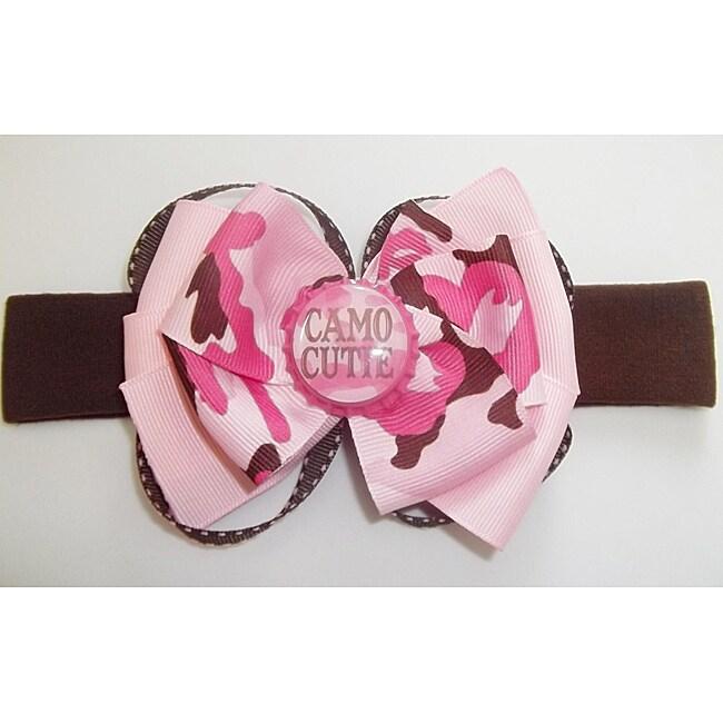 Pink Camo Cutie Hair Bow Headband