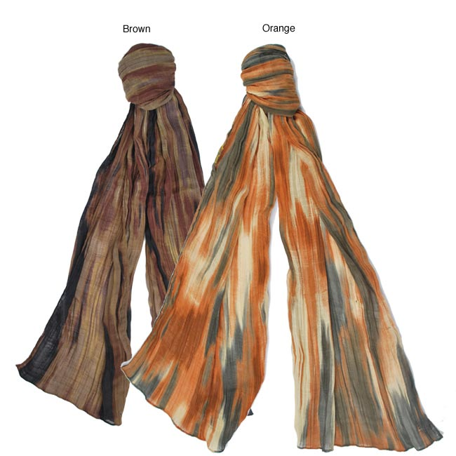 Printed Pleated Scarf (India)