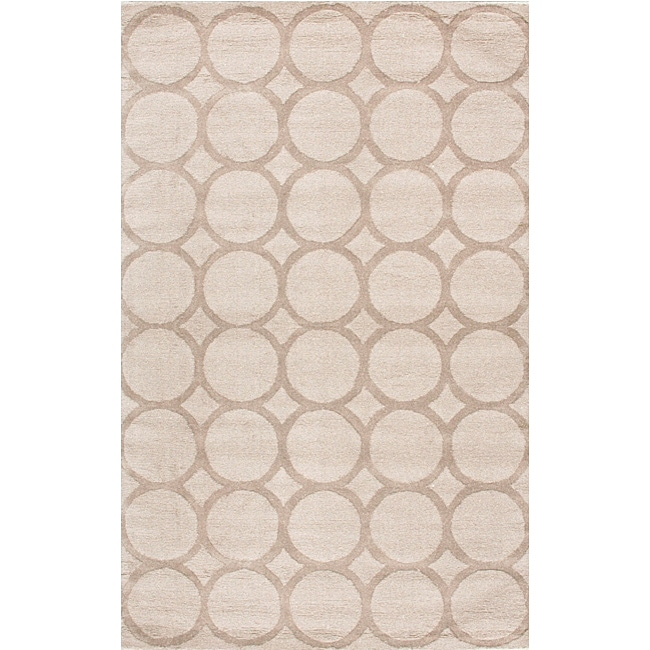 Shop Nuloom Handtufted Spectrum Circles Ivory Wool Rug 5