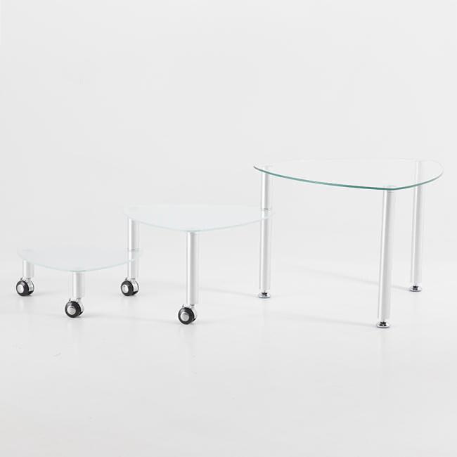 Zeema Triangle Functional 3-tier Coffee Table