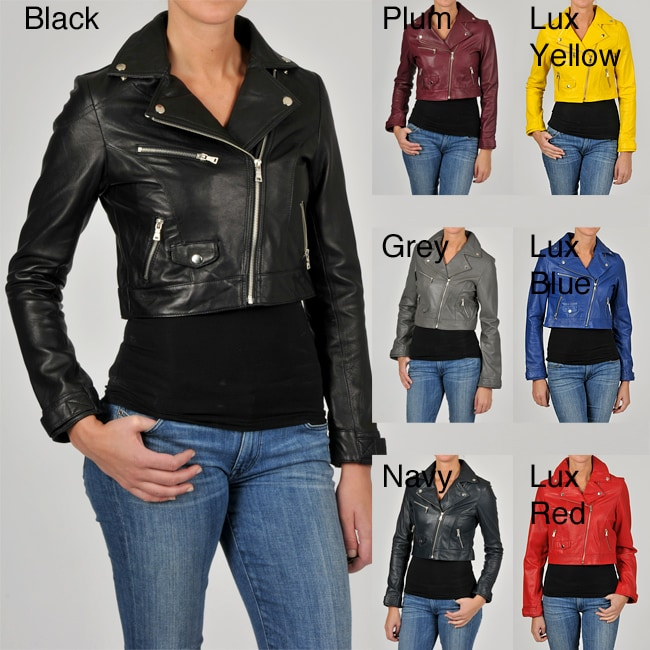 Knoles & Carter Women's Leather Motorcyle Jacket - Thumbnail 0