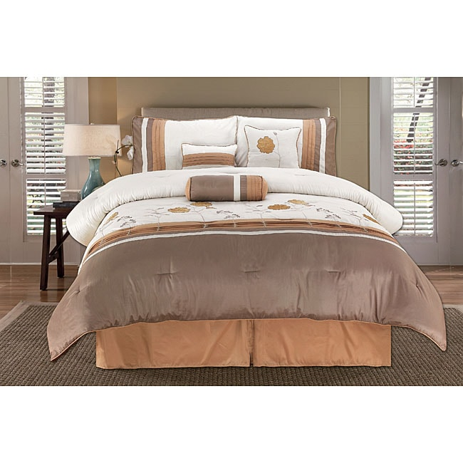 Sterling Rose Gold 7-piece Comforter Set