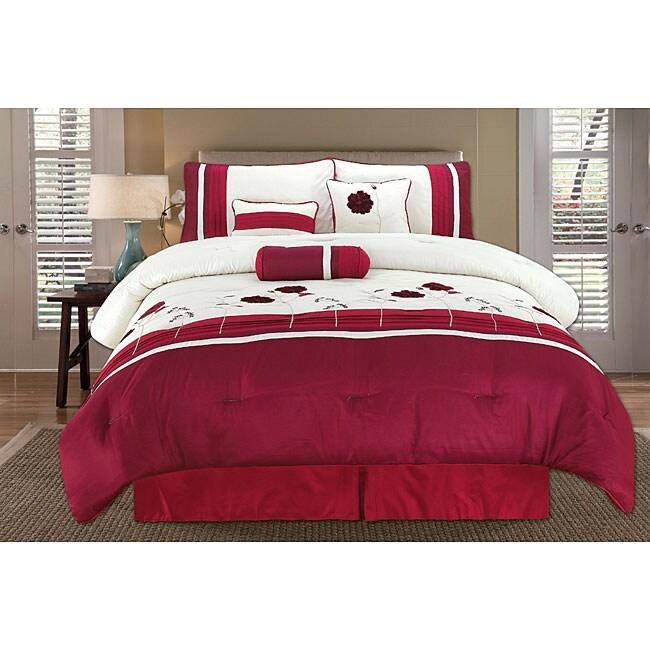 Sterling Rose Red 7-piece Comforter Set