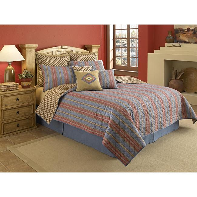 Denim Stripe Square Decorative Pillow