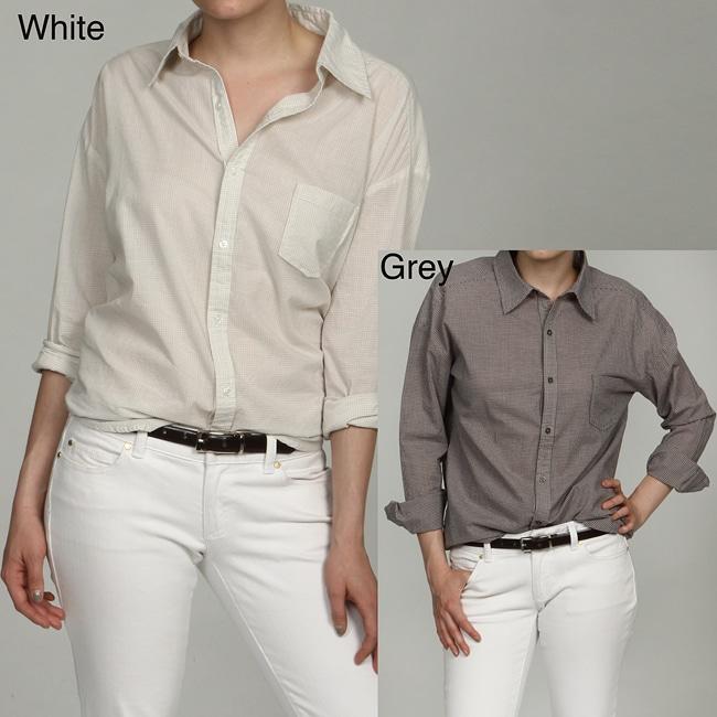 Jack Women's Gingham Plaid Button Down Shirt