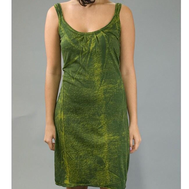 AtoZ Women's Cotton Distressed Tank Dress
