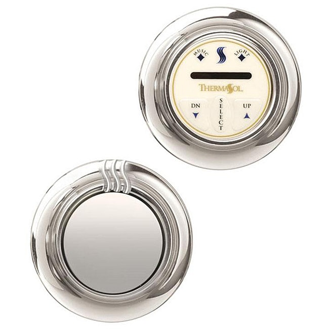 Termasol Traditional Temp Touch Plus Polished Nickel Steam Control