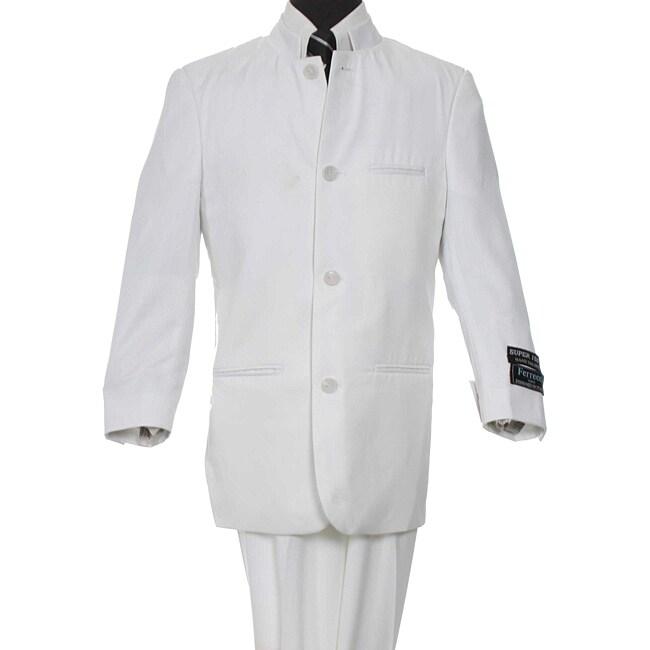 Ferrecci Boy's White Two-piece Suit