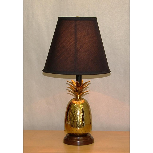 Lacquered Brass Pineapple Table Lamp