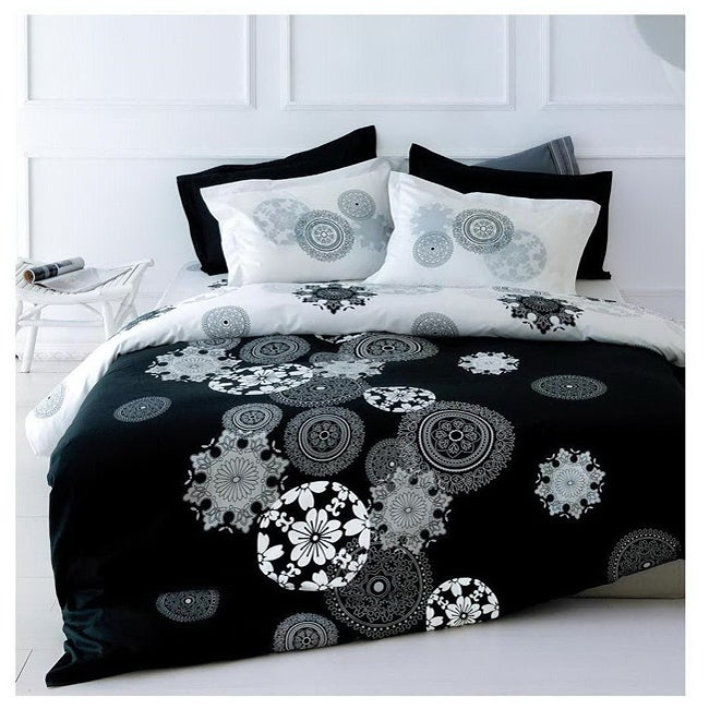 Midnight Black Full/ Queen-size 3-piece Duvet Cover Set