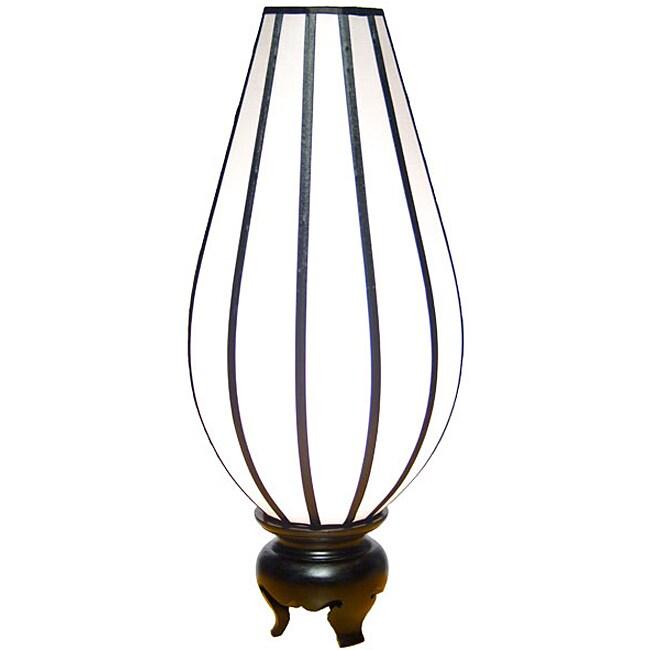 Silk Large Serenity White Table Lamp (Vietnam)