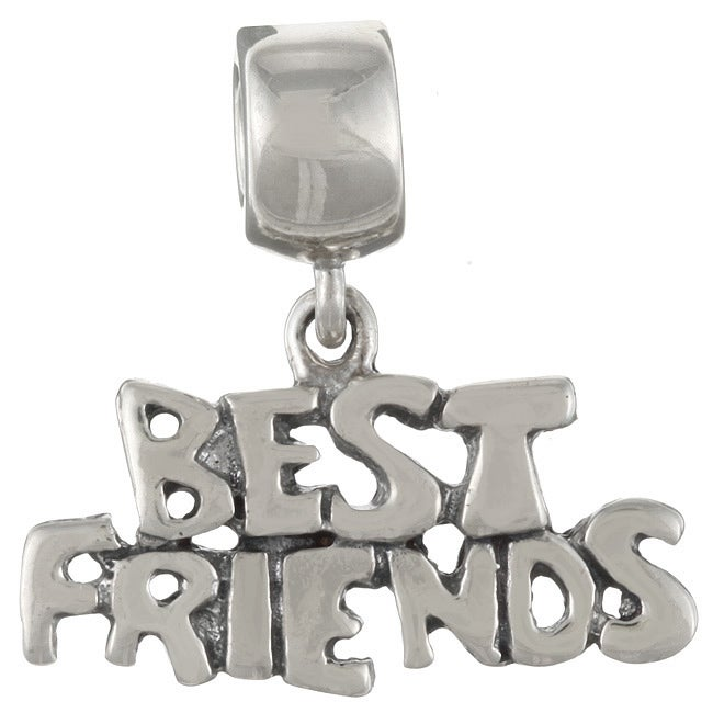 Sterling Essentials Sterling Silver Best Friends Dangle Charm